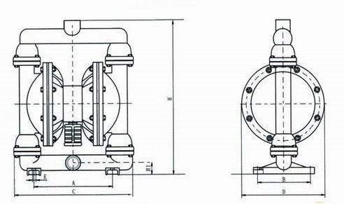 海坦牌气动隔膜泵工作原理