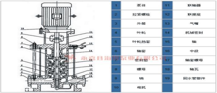 离心泵 立式多级管道离心泵gdl系列